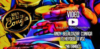 Andy Conga ft. Hayder La Voz - Mi Tambo (2017 salsa lyric video)