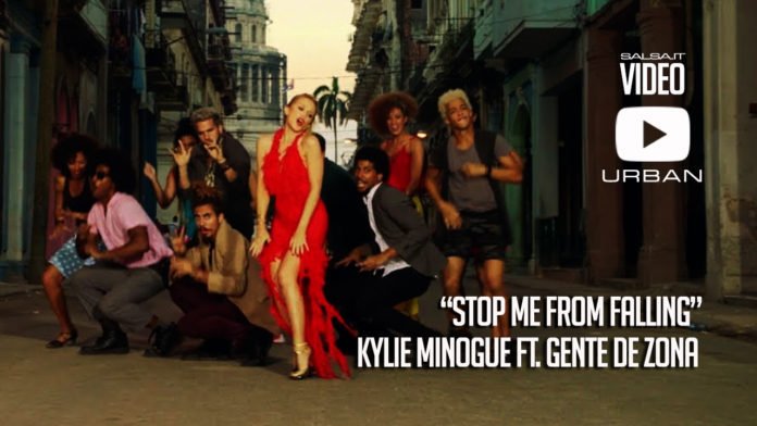 Kylie Minogue ft. Gente de Zona - Stop Me From Falling (2018 official pop video)