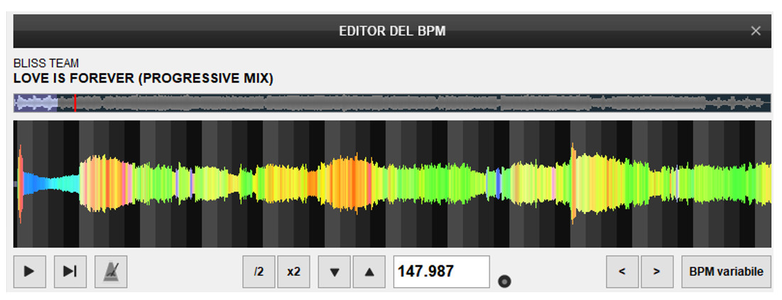 Virtual DJ - Editor BPM