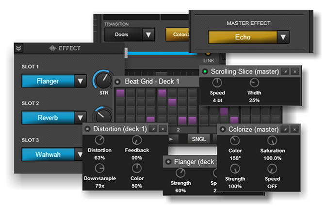 Virtual DJ - Effect Panels