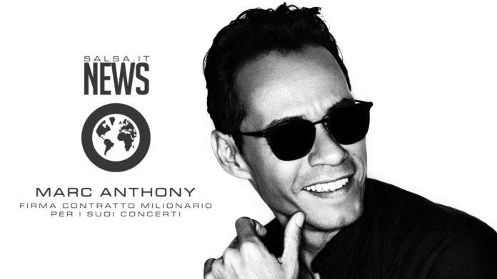 Marc Anthony - Firma Contratto Milionario Per i Suoi Concerti