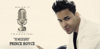 Prince Royce - Te Necesito (Testi e Traduzioni)