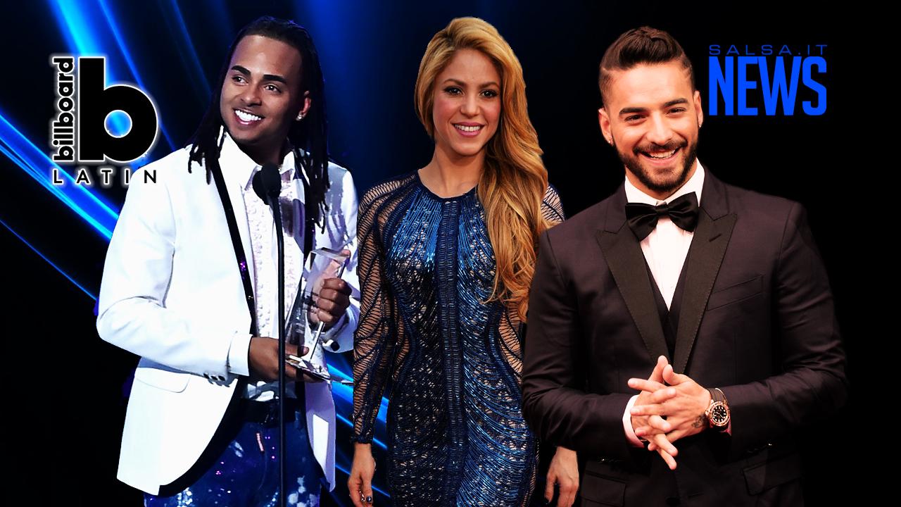 Winners Latin Billboard 2018 - Ozuna - Shakira - Maluma