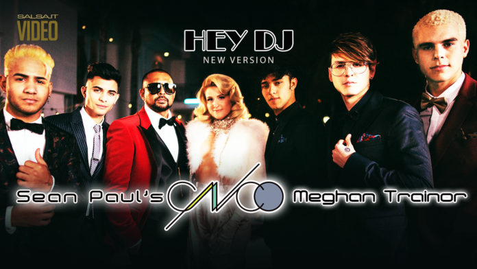 CNCO, Meghan Trainor, Sean Paul - Hey DJ (2018 Reggaeton lyric video)