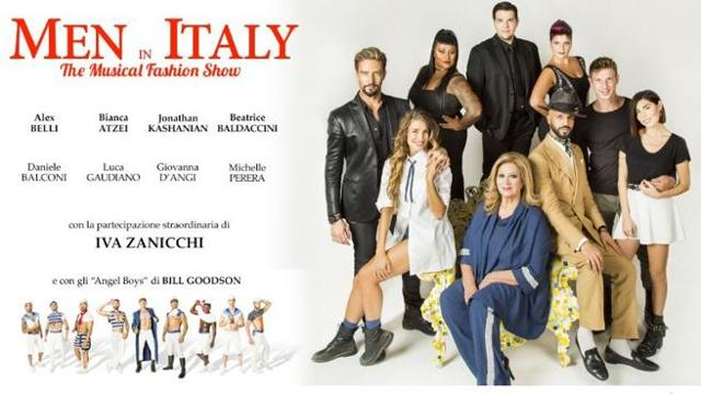 Men in Italy, a musical fashion show