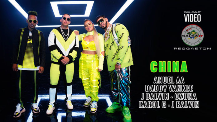 Anuel AA, Daddy Yankee, Karol G, Ozuna & J Balvin - China (2019 Reggaeton official video)