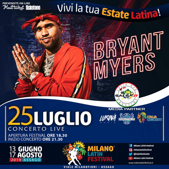 Bryant Myers 2019 (Milano Latin Festival)