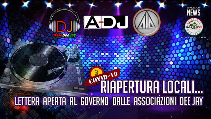 LETTERA AL GOVERNO DELLE ASSOCIAZIONI DI CATEGORIA SULLA CONDIZIONE DEI DJ IN TEMPI DI PANDEMIA