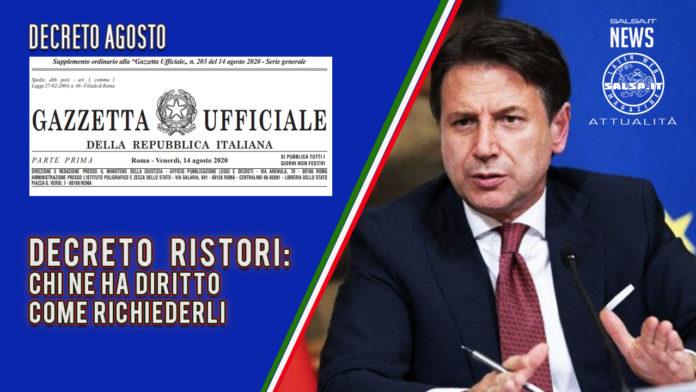 DECRETO RISTORO - COME RICHIEDERLO