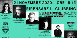 RIPENSARE IL CLUBBING - L'EVENTO ONLINE PER I DEE-JAYS (2020 News Salsa.it)
