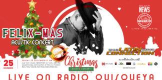 Felix-Mas Acustic Concert on Radio Quisqueya by iLatin Music