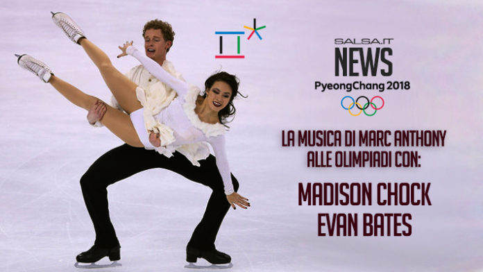 Madison Chock - Evan Bates con Marc Anthony