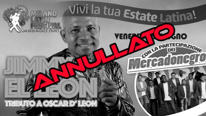 Jimmy El Leon -Tributo A Oscar D'Leon (Milano 2018 Annullato)