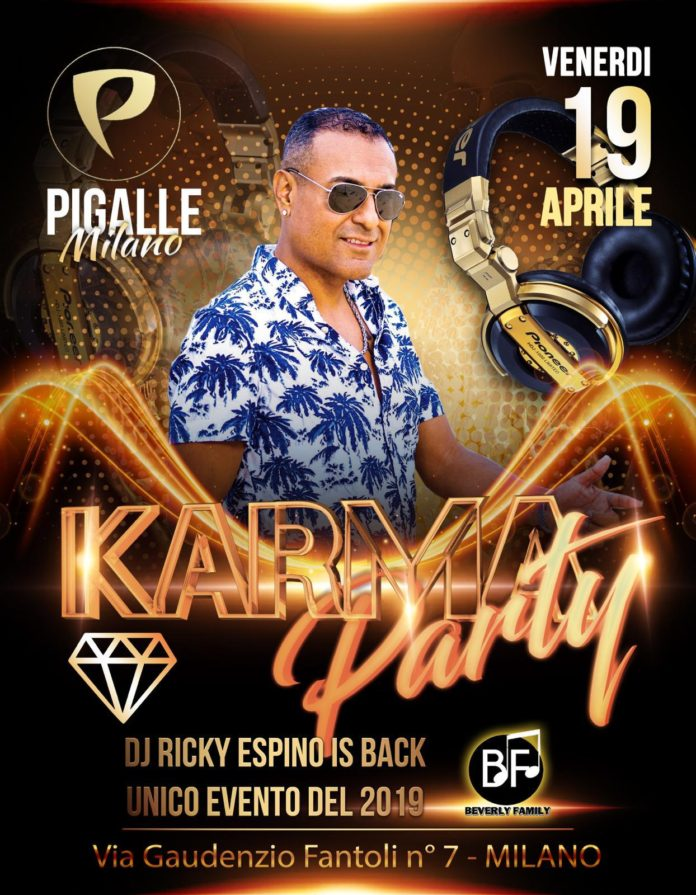 Ricky Espino is Back - Milano 19 Aprile