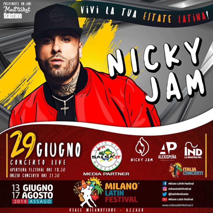 Concerto - Nicky Jam 2019 (Milano Latin Festival)