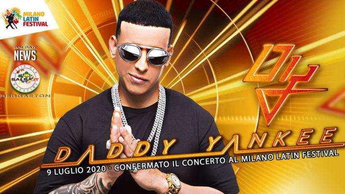 Milano Latin Festival annuncia il concerto di Daddy Yankee per il 09 Luglio 2020